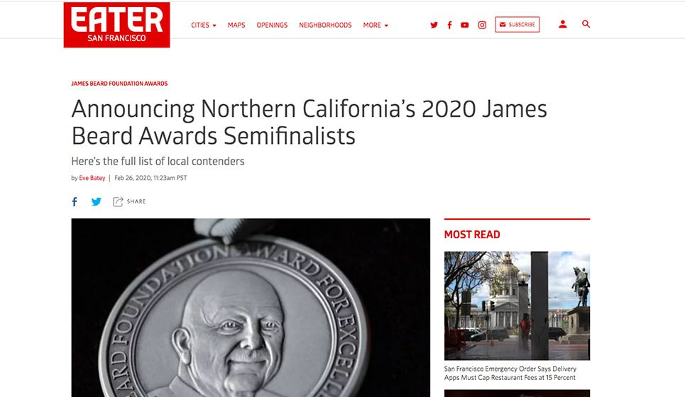 San Francisco Eater: 26 February 2020