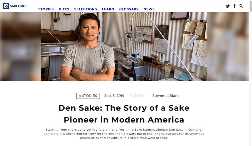 Sake Times: 5 September 2019