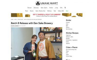 Batch 8 Release with Den Sake Brewery at Umami Mart